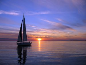 Sailboat at sundown